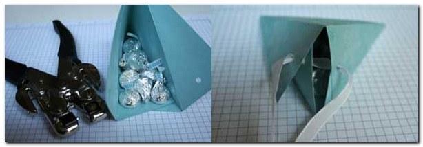 Скрапбукинг - МК.Треугольная коробочка