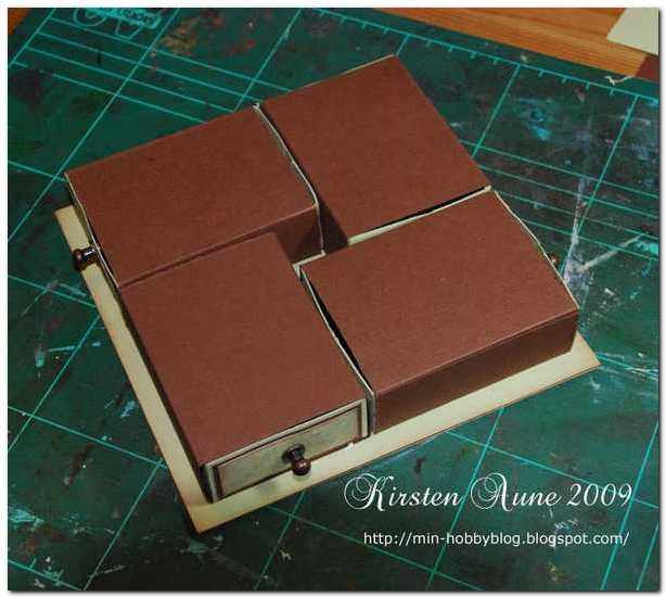 Скрапбукинг - коробочка с ящичками