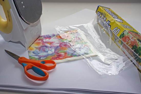Салфетка на бумаге или экспресс-открытка