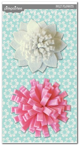 Скрапбукинг - цветок из фетра