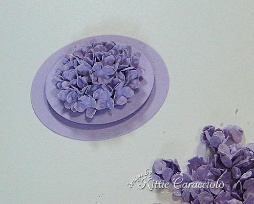 Объемный букетик цветов на открытку