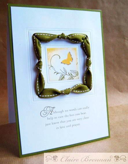 Скрапбукинг - украшение из лент для открытки