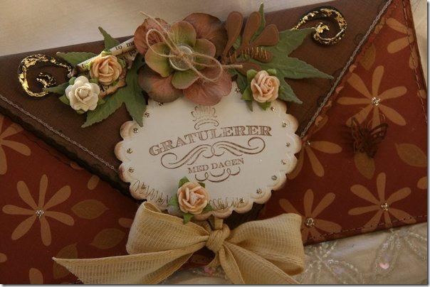 Скрапбукинг - конверт для денег или письма